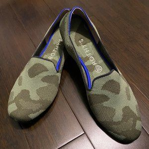 Rothys The Loafer Olive Camo Womens 9.5
